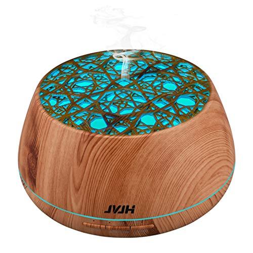 JVJH Humidificador Esencias,Humidificador Aromaterapia Ultrasónico,Gran Capacidad, Gradiente De 14 Colores, Material Seguro, Amplia Cobertura, Adecuado para Todas Las Estacionesa