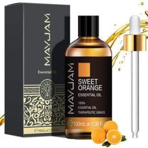 Aceite Esencial de Naranja Dulce Puro Aromaterapia Mayjam