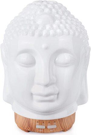 Difusor de aceites esenciales Humidificador 100 ml. Cabeza de Buda con Luces Led