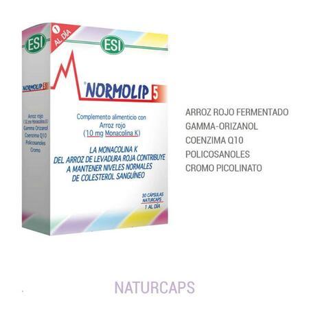 Reduce Colesterol con Arroz Rojo Normolip 5 ESI