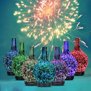 Humidificadores DIfusores Mini Equsupro de Vidrio Efecto fuegos artificiales
