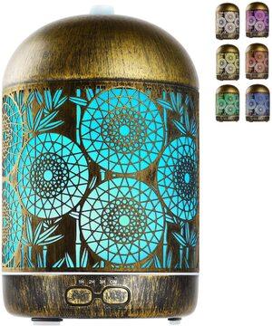 Difusor de aceites esenciales Humidificador 300 ml. Geeric Metal