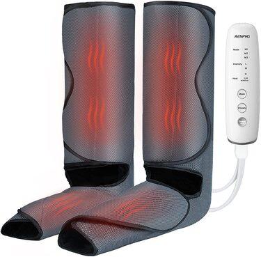 Masajeador de piernas Renpho con función de calor, masaje de compresión de pies y pantorrillas para mejorar la circulación y la relajación muscular